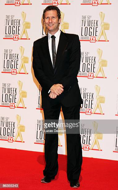 TV host and comedian Adam Hills arrives for the 51st TV Week Logie Awards at the Crown Towers Hotel and Casino on May 3 2009 in Melbourne Australia