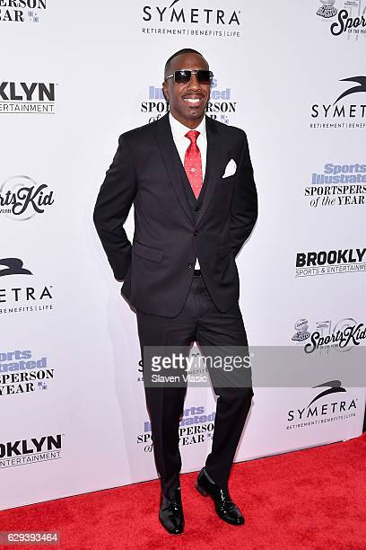 Host and comedian JB Smoove attends the Sports Illustrated Sportsperson of the Year Ceremony 2016 at Barclays Center of Brooklyn on December 12 2016...