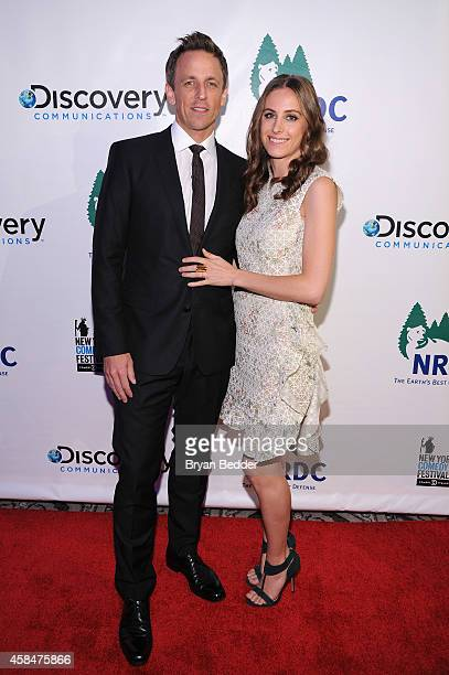 """Host and Comedian Seth Meyers and Alexi Ashe Meyers attend NRDC's """"Night Of Comedy"""" benefiting the Natural Resources Defense Council at 583 Park Ave..."""