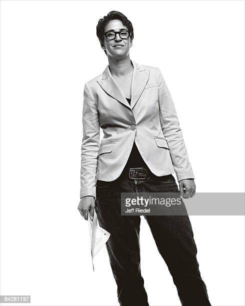 Host and commentator Rachel Maddow poses for a portrait session at the Democratic Convention in Denver Colorado on August 27 2008 PUBLISHED IMAGE