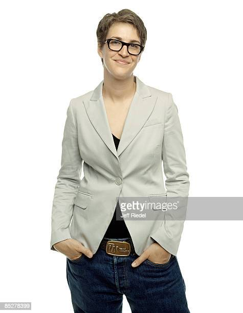 Host and commentator Rachel Maddow poses for a portrait session at the Democratic Convention in Denver Colorado on August 27 2008