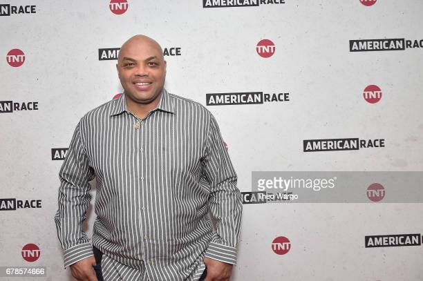 Host and Executive Producer Charles Barkley attends the American Race Press Luncheon on May 4 2017 at the Paley Center For Media in New York City...