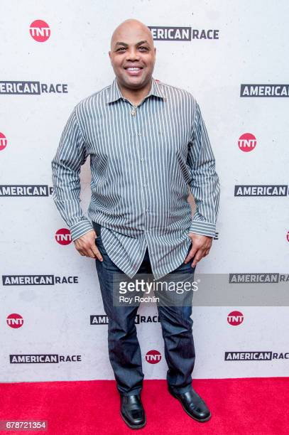 Host and Executive Producer Charles Barkley attends the American Race Press Luncheon at The Paley Center for Media on May 4 2017 in New York City