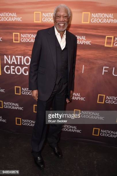 Host and Executive Producer Morgan Freeman of 'The Story of God With Morgan Freeman Season 3' attends National Geographic's FURTHER Front immersive...
