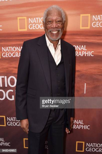 Host and Executive Producer Morgan Freeman of The Story of God With Morgan Freeman Season 3 attends National Geographic's FURTHER Front immersive...