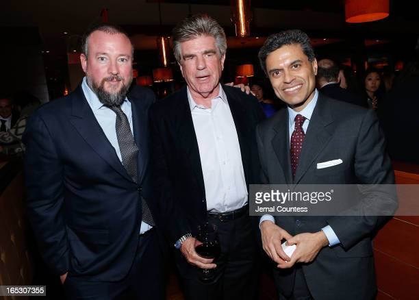 Host and executive producer Shane Smith media executive Tom Freston and journalist Fareed Zakaria attend the Vice New York Premiere After Party at...