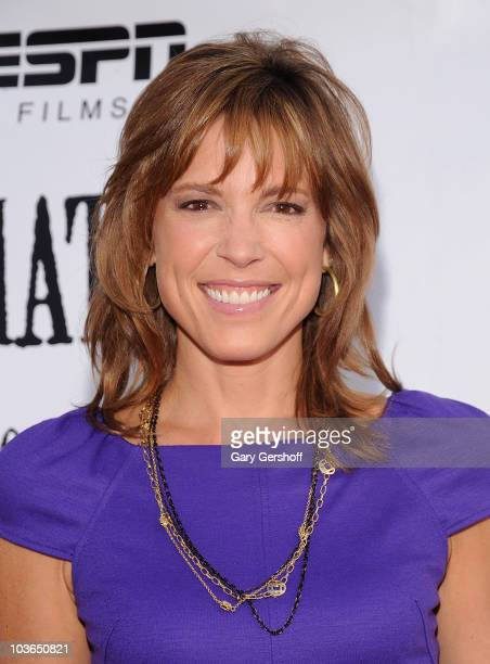 "Host and film producer Hannah Storm attends the premiere of ""Unmatched"" at Tribeca Cinemas on August 26, 2010 in New York City."