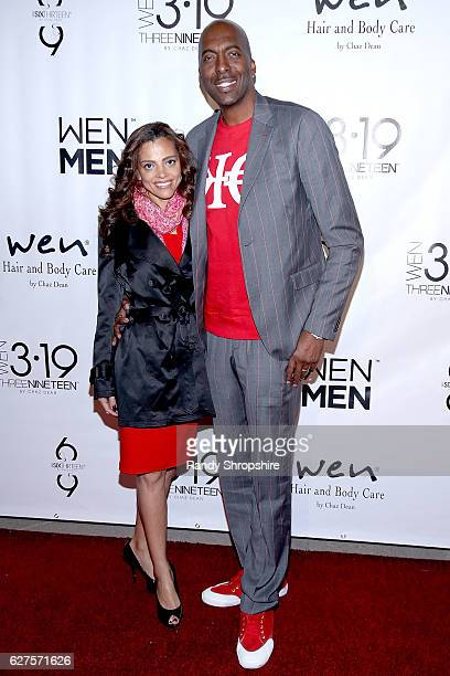 TV host and formaer NBA player John Salley and wife Natasha Duffy arrive to Chaz Dean WEN winter party benefiting Love is Louder on December 3 2016...