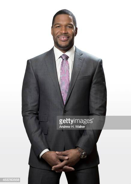 TV host and former football player Michael Strahan is photographed for Variety on April 29 2014 in New York City