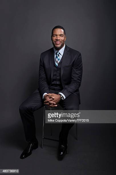 TV host and former football player Michael Strahan is photographed for Variety at the Tribeca Film Festival on April 16 2015 in New York City
