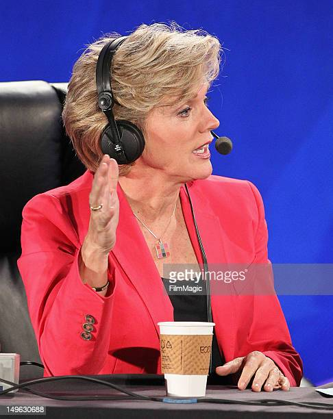 Host and former Michigan Governor Jennifer Granholm speaks during the Current TV TCA Breakfast at The Beverly Hilton Hotel on August 1 2012 in...