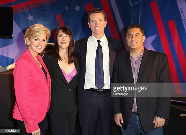 Host and former Michigan Governor Jennifer Granholm TV Host Stephanie Miller Lieutenant Governor of California Gavin Newsom and TV Host Cenk Uygur...