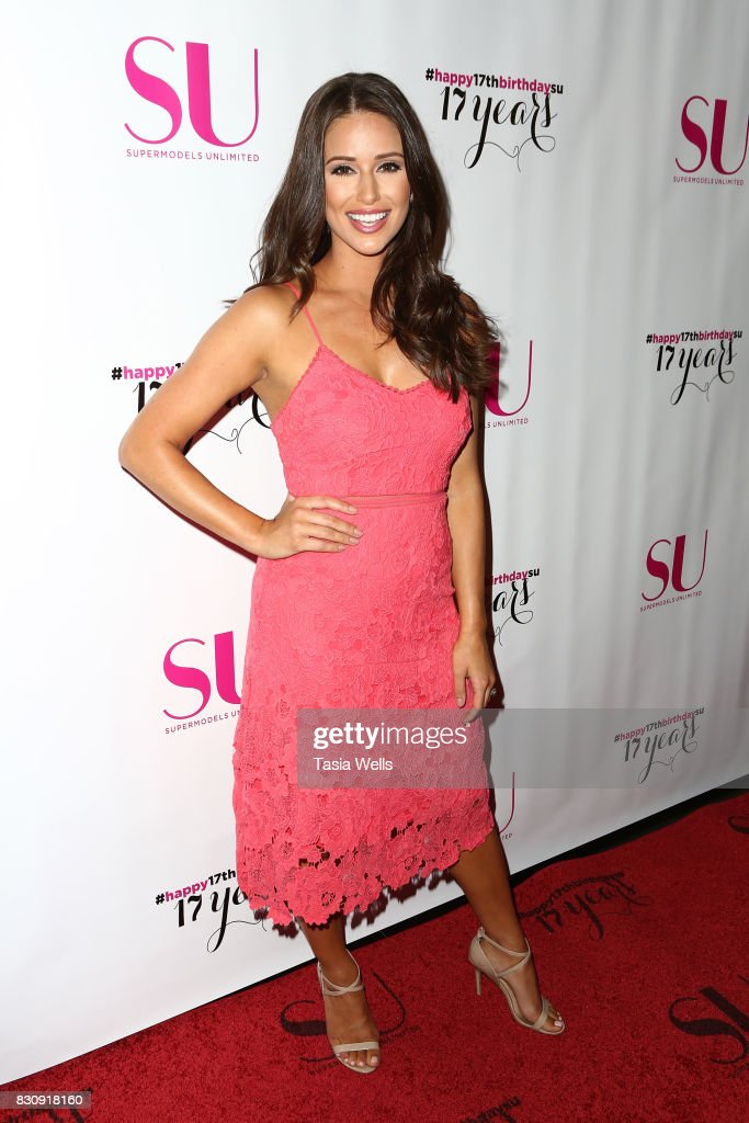 Host and former Miss USA Nia Sanchez at SU Magazine's 17th Anniversary Celebration on August 12, 2017 in Hollywood, California.