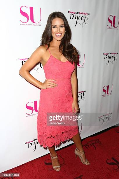 Host and former Miss USA Nia Sanchez at SU Magazine's 17th Anniversary Celebration on August 12 2017 in Hollywood California