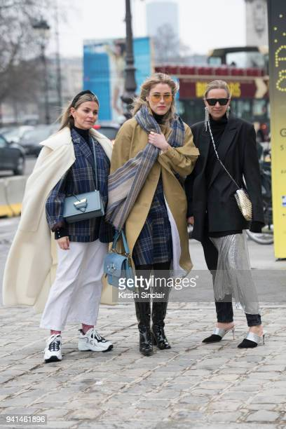 Host and founder of Pollianicom consultant and stylist Janka Polliani wears Acne trainers and jacket Lindex trousers Loewe bag and Anni Lu earrings...