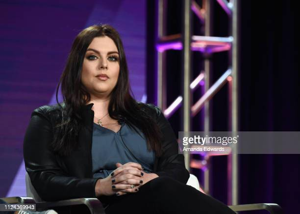 Host and Paranormal Investigator Katrina Weidman of 'Portals To Hell' speaks onstage during the Travel Channel portion of the Discovery...