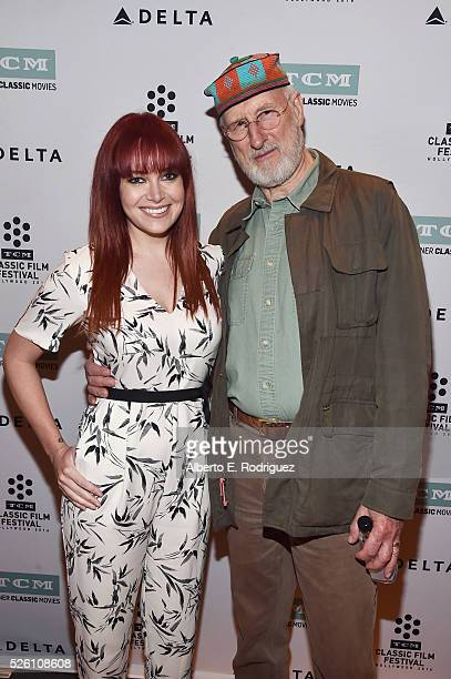 TV host and reporter Alicia Malone and actor James Cromwell attend 'Lassie Come Home' during day 2 of the TCM Classic Film Festival 2016 on April 29...