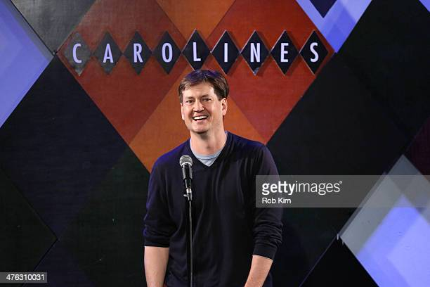 Host and show's executive producer Bill Lawrence entertains the audience at The Undateable Tour opening night at Caroline's On Broadway on March 2...