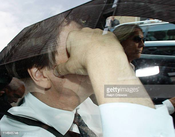 TV host and weather expert Joerg Kachelmann arrives at the courthouse for the beginning of day 44 the day of the proclamation of sentence his trial...
