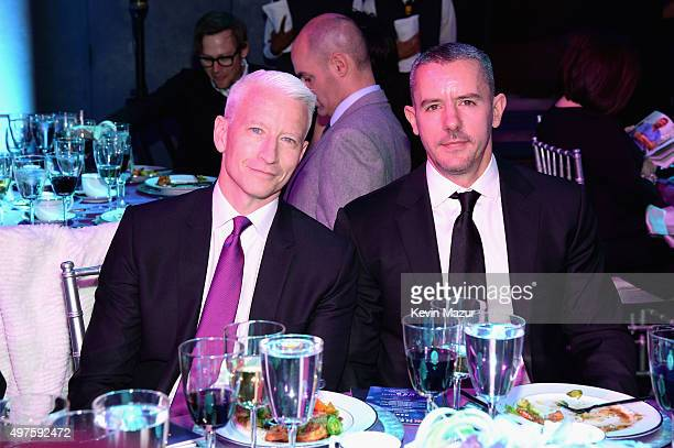 Host Anderson Cooper and Benjamin Maisani attend CNN Heroes 2015 Show at American Museum of Natural History on November 17 2015 in New York City...