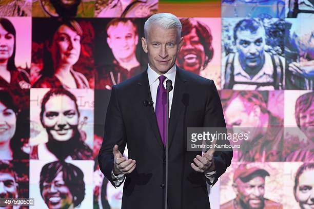 Host Anderson Cooper speaks on stage during CNN Heroes 2015 Show at American Museum of Natural History on November 17 2015 in New York City 25619_023