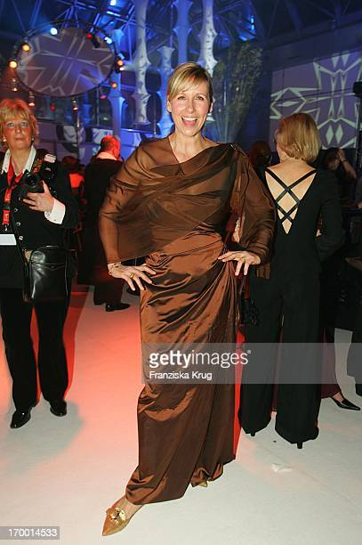 Host Andrea Kiewel at After Show Party The 40th The award Golden Camera Am In The Ullsteinhalle Of Axel Springer building in Berlin 090205