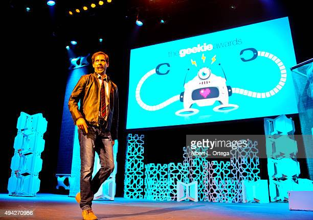 Host Andrew Bowen at the 3rd Annual Geekie Awards held at Club Nokia on October 15 2015 in Los Angeles California