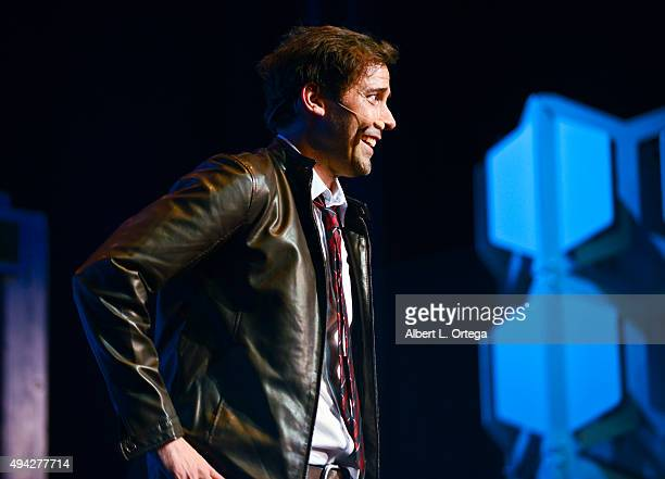 Host Andrew Bowen on stage at the 3rd Annual Geekie Awards held at Club Nokia on October 15 2015 in Los Angeles California