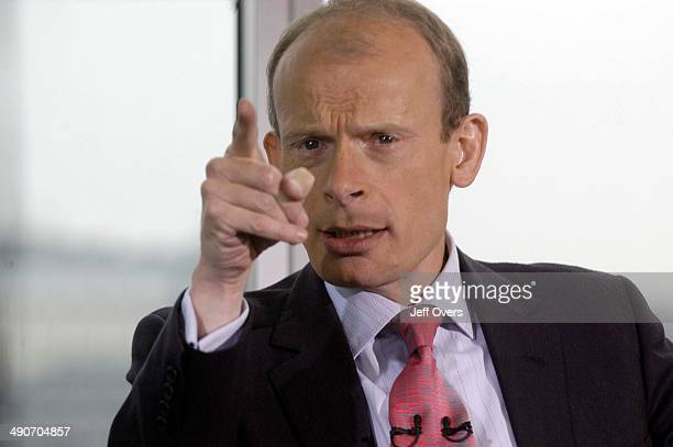 Host Andrew Marr gestures points pointing on the BBC News and current affairs programme Sunday AM