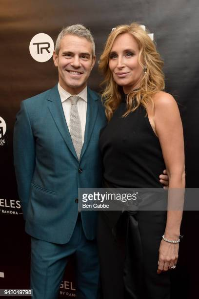 Host Andy Cohen and TV personality Sonja Morgan attend The Real Housewives of New York Season 10 Premiere & Viewing Party at The Seville on April 4,...