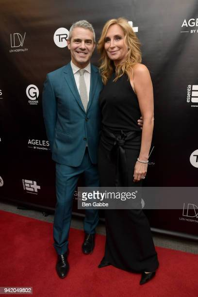 Host Andy Cohen and TV personality Sonja Morgan attend The Real Housewives of New York Season 10 Premiere Viewing Party at The Seville on April 4...