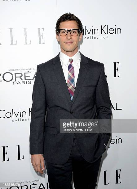 Host Andy Samberg attends ELLE's 20th Annual Women In Hollywood Celebration at Four Seasons Hotel Los Angeles at Beverly Hills on October 21, 2013 in...