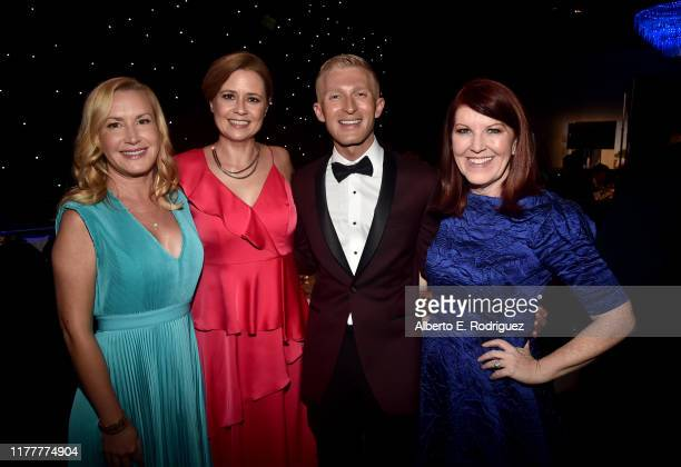 Host Angela Kinsey, Jenna Fischer, Thirst Project CEO Seth Maxwell, and Kate Flannery attend Thirst Project 10th Annual Thirst Gala at The Beverly...