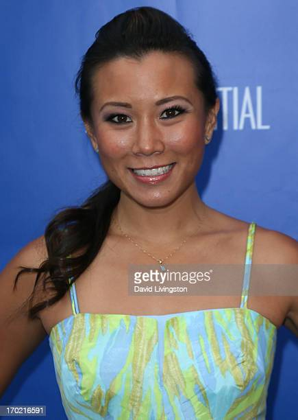 TV host Angela Sun attends the Nautica Oceana inaugural Oceana Beach House event at the Marion Davies Guest House on June 8 2013 in Santa Monica...