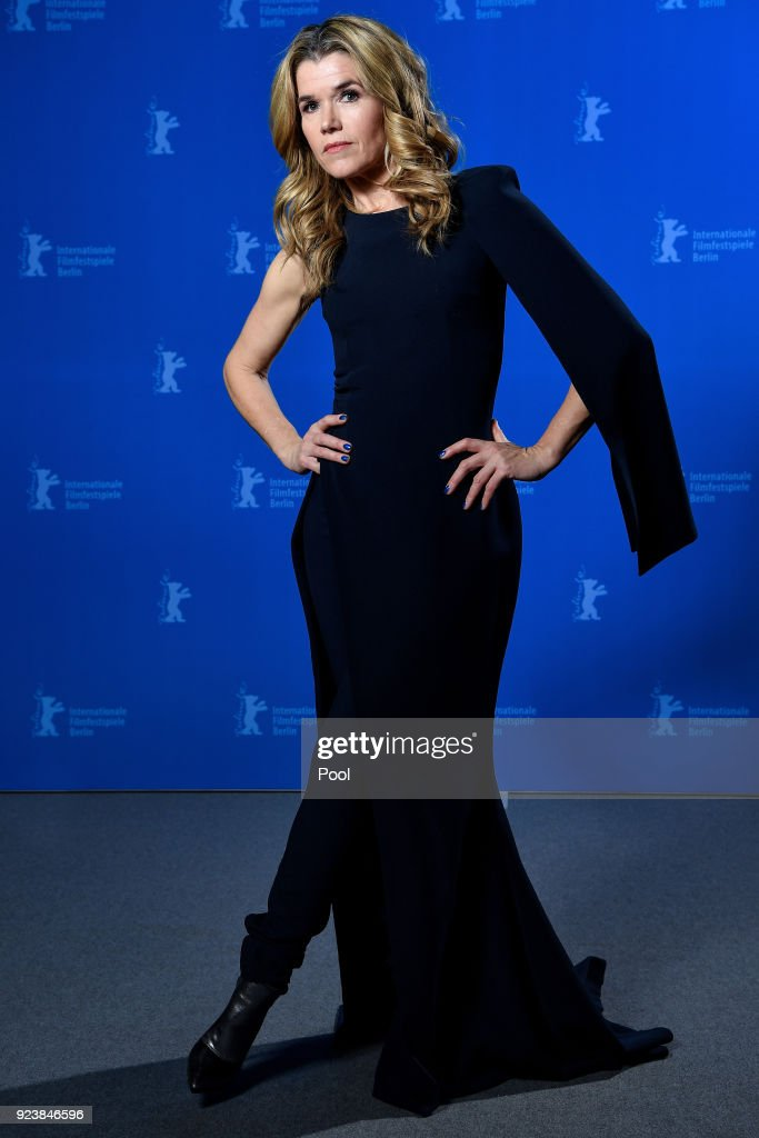 Host Anke Engelke poses at the Award Winners photo call during the 68th Berlinale International Film Festival Berlin at Berlinale Palast on February 24, 2018 in Berlin, Germany.