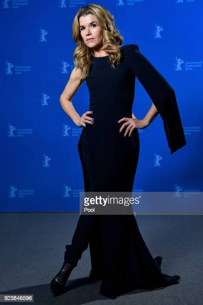 Host Anke Engelke poses at the Award Winners photo call during the 68th Berlinale International Film Festival Berlin at Berlinale Palast on February...