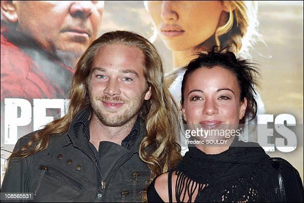 Host AnneGaelle Riccio 'M6' and friend in Paris France on September 21st 2004