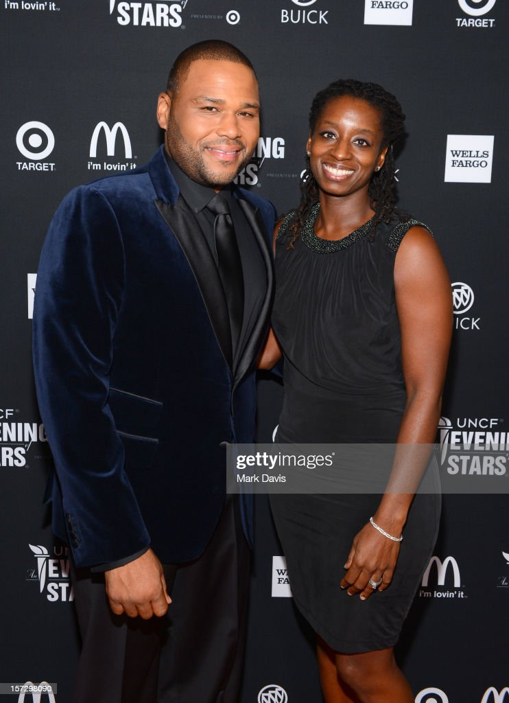 Host Anthony Anderson (L) and Alvina Stewart Anderson arrive at UNCF's 34th Annual An Evening Of Stars held at Pasadena Civic Auditorium on December 1, 2012 in Pasadena, California.