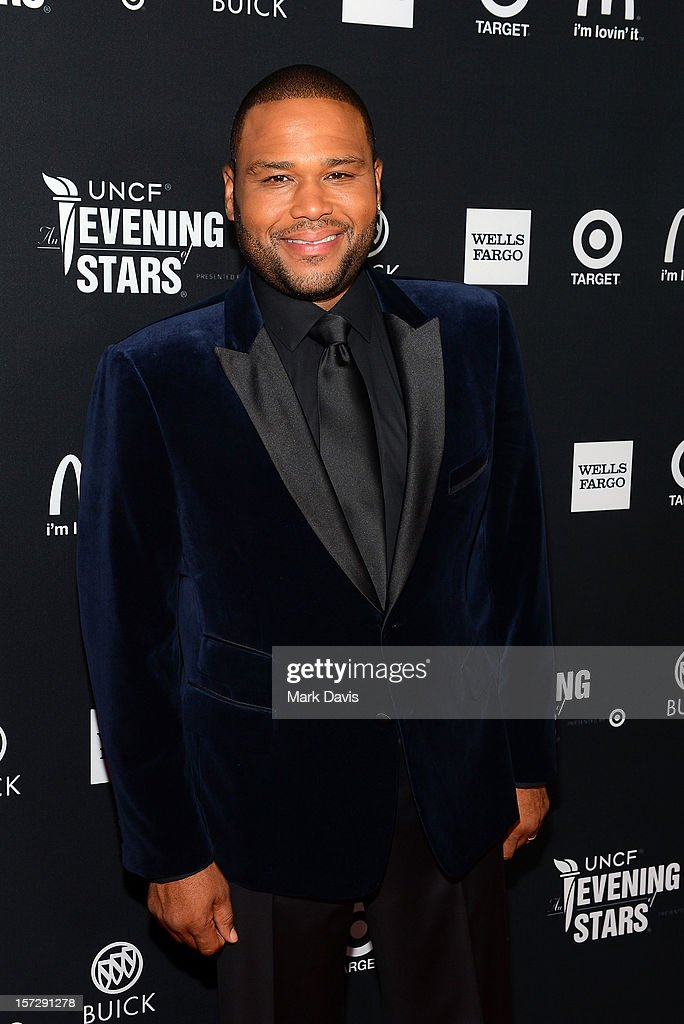 Host Anthony Anderson arrives at UNCF's 34th Annual An Evening Of Stars held at Pasadena Civic Auditorium on December 1, 2012 in Pasadena, California.
