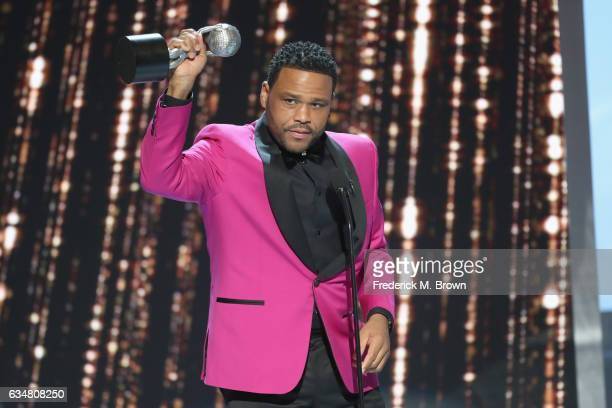 Host Anthony Anderson onstage at the 48th NAACP Image Awards at Pasadena Civic Auditorium on February 11, 2017 in Pasadena, California.