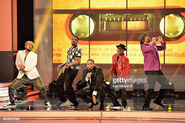 Host Anthony Anderson performs onstage at the 46th Annual NAACP Image Awards on February 6 2015 in Pasadena California