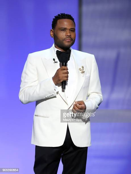 Host Anthony Anderson speaks onstage during the 49th NAACP Image Awards at Pasadena Civic Auditorium on January 15 2018 in Pasadena California