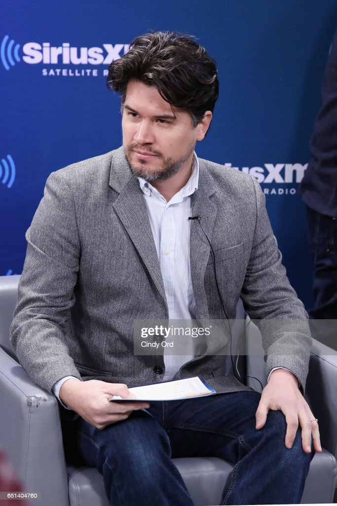 Host Anthony Breznican speaks during SiriusXM's 'Town Hall' with Emma Watson; 'Town Hall' to air on Entertainment Weekly Radio on March 10, 2017 in New York City.