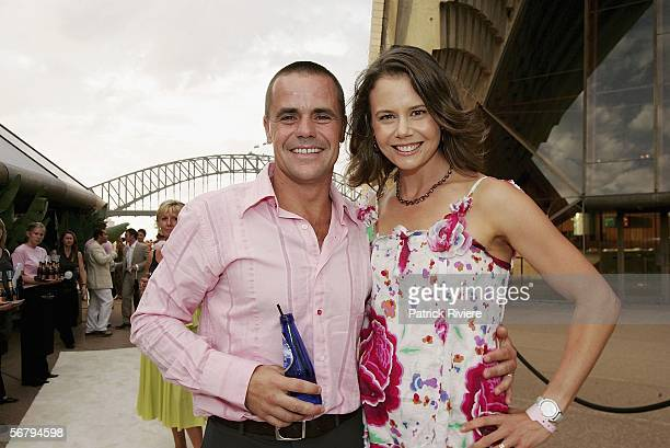 TV host Antonia Kidman and her husband businessman Angus Hawley attend The Silver Party at the Sydney Opera House on February 9 2006 in Sydney...