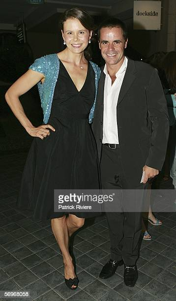 TV host Antonia Kidman attends with her husband businessman Angus Hawley the Laugh Out Loud party at the Dockside Cockle Bay on March 01 2006 in...