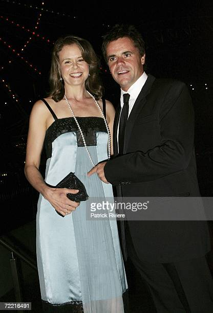 TV host Antonia Kidman with her husband businessman Angus Hawley attend the SAD KIDS Dance The Blues Away fundraiser hosted by Dr Tony Kidman at Luna...
