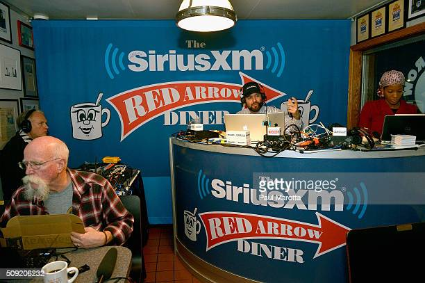 Host Ari RabinHavt at SiriusXM Red Diner Broadcasts from New Hampshire Primary Coverage Live on February 9 2016 in Manchester New Hampshire