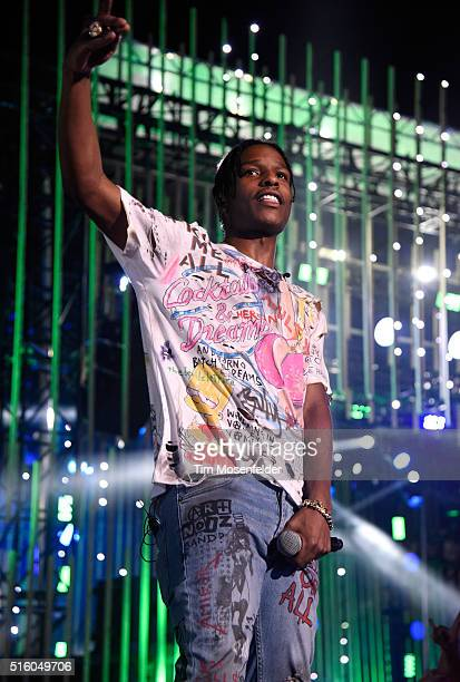Host ASAP Rocky speaks onstage during the 2016 MTV Woodies/10 For 16 on March 16 2016 in Austin Texas