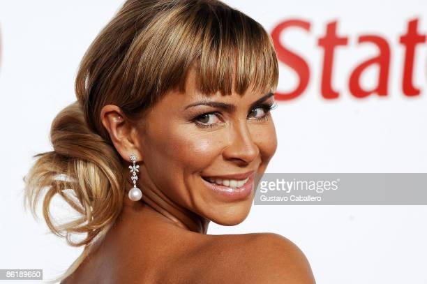 Host Aylin Mujica attends the 2009 Billboard Latin Music Awards at Bank United Center on April 23 2009 in Miami Beach Florida