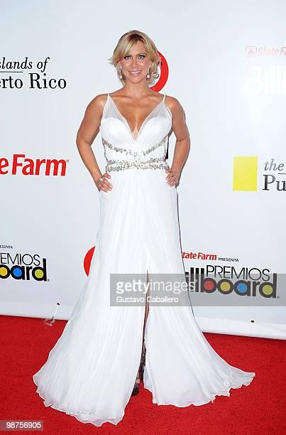 Host Aylin Mujica attends the 2010 Billboard Latin Music Awards at Coliseo de Puerto Rico José Miguel Agrelot on April 29, 2010 in San Juan, Puerto...